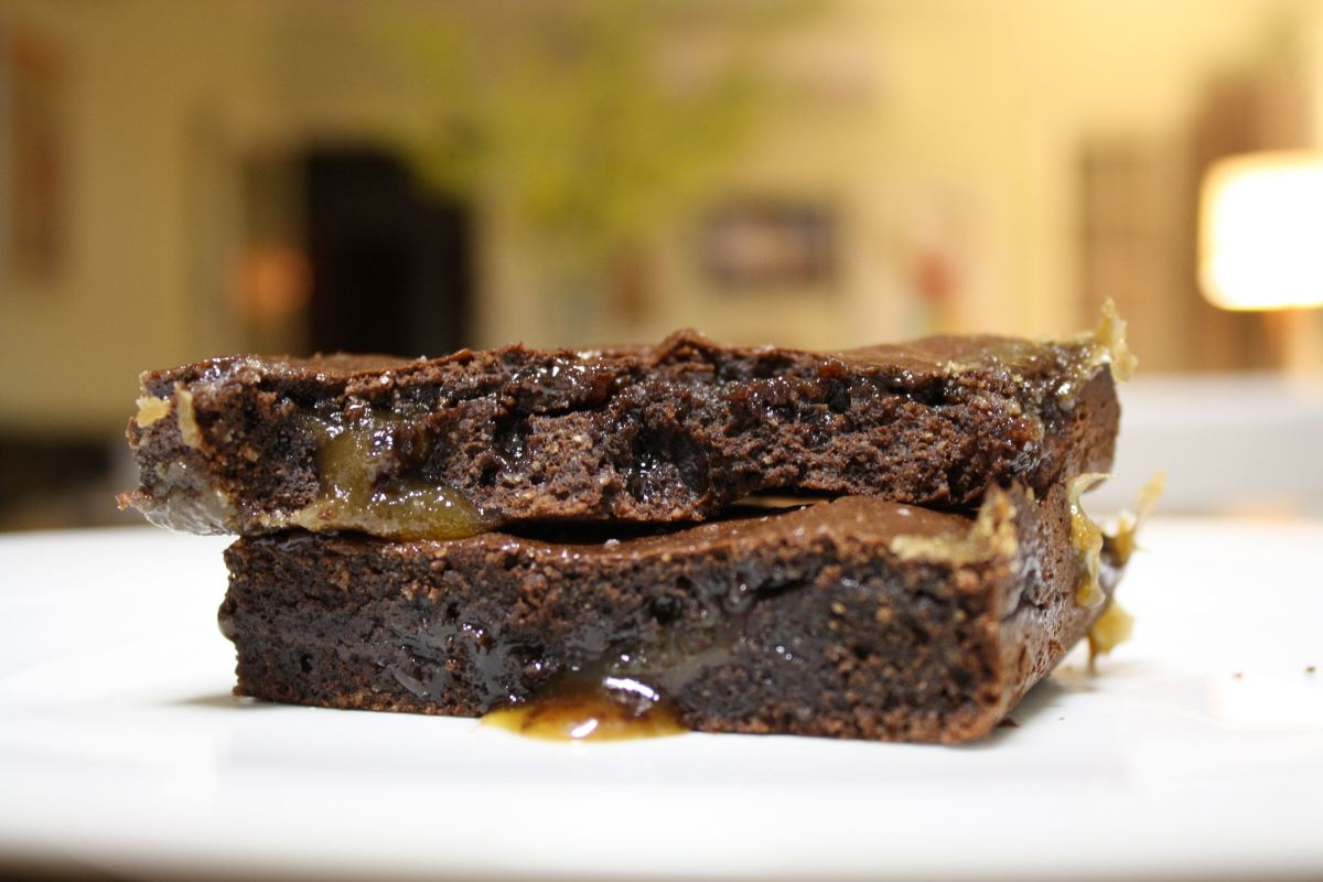 Epic Amazing Chocolate Fudge Salty Caramel Brownies (Gluten Free, Grain Free )